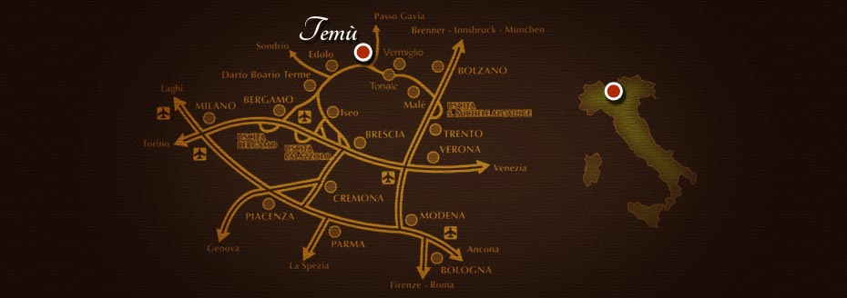 Map:how to reach us in Temù
