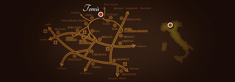 Mappa: come raggiungerci a Temù